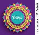 diwali festival greeting card... | Shutterstock .eps vector #1171349404