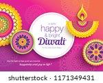 diwali festival greeting card... | Shutterstock .eps vector #1171349431