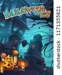 halloween spooky party   vector ... | Shutterstock .eps vector #1171355821