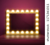 make up mirror with light.... | Shutterstock .eps vector #1171361011
