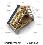 house roofing technical details | Shutterstock . vector #117136165