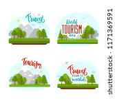 beautiful lettering for tourism ... | Shutterstock .eps vector #1171369591