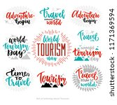 beautiful lettering for tourism ... | Shutterstock .eps vector #1171369594