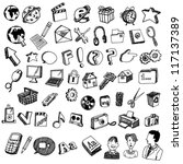 collections of doodled internet ... | Shutterstock .eps vector #117137389