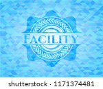 facility realistic light blue... | Shutterstock .eps vector #1171374481