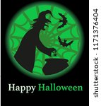 vector illustration of witch... | Shutterstock .eps vector #1171376404