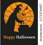 vector illustration of witch... | Shutterstock .eps vector #1171376407