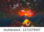 digital neural network.... | Shutterstock . vector #1171379407