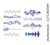 sound waves set  audio digital... | Shutterstock .eps vector #1171382044