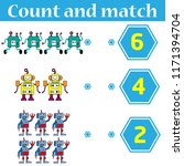 counting game for preschool... | Shutterstock .eps vector #1171394704