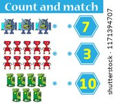 counting game for preschool... | Shutterstock .eps vector #1171394707