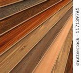 3d rendering of parquet strips... | Shutterstock . vector #117139765