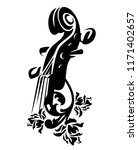 violin musical instrument among ... | Shutterstock .eps vector #1171402657