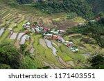 beautiful landscape at banaue...   Shutterstock . vector #1171403551