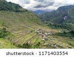 beautiful landscape at banaue...   Shutterstock . vector #1171403554