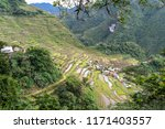 beautiful landscape at banaue...   Shutterstock . vector #1171403557