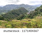 beautiful landscape at banaue... | Shutterstock . vector #1171404367