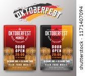 oktoberfest beer festival... | Shutterstock .eps vector #1171407094