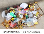 pile of plastic garbage waste... | Shutterstock . vector #1171408531