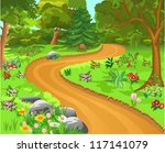 path in the forest | Shutterstock .eps vector #117141079