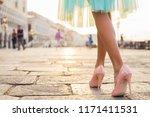 Woman Walking In High Heel...