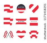 austria flag vector icons and... | Shutterstock .eps vector #1171418251