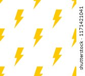 seamless pattern with lightning ... | Shutterstock .eps vector #1171421041