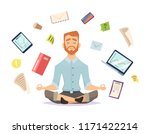 business yoga concept. office... | Shutterstock .eps vector #1171422214