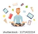 business yoga concept. office... | Shutterstock .eps vector #1171422214