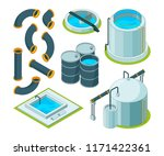 water purification. treatment... | Shutterstock .eps vector #1171422361