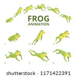 Frog Jumping Animation. Variou...