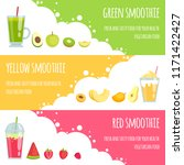 summer smoothie. horizontal... | Shutterstock .eps vector #1171422427