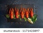 Boiled Cooked Crayfish Crawfis...