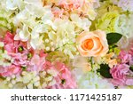 beautiful flower decorate... | Shutterstock . vector #1171425187