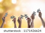 teamwork idea brainstorming ...   Shutterstock . vector #1171426624