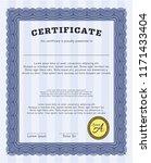 blue sample diploma. perfect...   Shutterstock .eps vector #1171433404