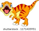 cartoon tyrannosaurus isolated... | Shutterstock . vector #1171435951