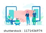 online business   flat design...   Shutterstock .eps vector #1171436974