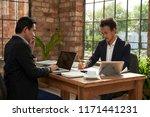 business executives... | Shutterstock . vector #1171441231