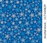 Seamless Blue Winter Pattern...