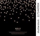 golden festive confetti. bronze ... | Shutterstock .eps vector #1171449904