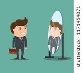 businessman looks yourself in...   Shutterstock .eps vector #1171454071