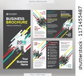 business brochure template in... | Shutterstock .eps vector #1171455487
