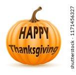 pumpkin with inscription happy...   Shutterstock .eps vector #1171456327