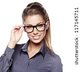 Cute Young Business Woman With...