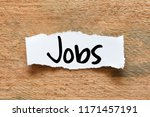 Stock photo jobs business text concept 1171457191