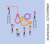 businessmen and teamwork... | Shutterstock .eps vector #1171459864