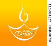 happy diwali greeting card with ... | Shutterstock .eps vector #1171464751