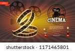 realistic cinematography bright ... | Shutterstock .eps vector #1171465801