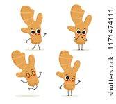 ginger. cute cartoon spice... | Shutterstock .eps vector #1171474111
